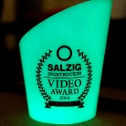 The glowing trophy / SALZIG Sporthocker Video Award 2014 / Foto: Landschütz