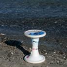 Sporthocker am Strand / Foto: S. Wilke