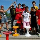 Die Siegehrung, von links nach rechts: Suse(Jury), Felix (Jury), Marvin 1.Platz, Jason Sonderplatz, Somaja 2. Platz, Zoe 1. Platz, SL (Jury), Marcel Sonderplatz, nicht auf dem Bild: Stefan 2. Platz, Seyran Sonderplatz