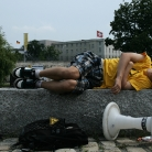 Power Napping / HockHart 2010 / Foto: Susanne Wilke