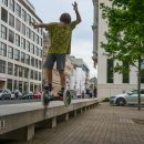 Leo in der Balance / HockHart / Foto: Landschütz / SALZIG Sporthocker
