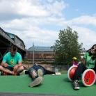 Chillen am Gleisdreieck / HockHart Camp 2014 / Foto: Wilke / SALZIG Sporthocker
