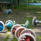 Sporthocker im Garten / HockHart Camp 2014 / Foto: Landschütz / SALZIG Sporthocker