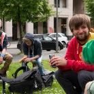 Chilln auf der Wiese / HockHart / SALZIG Sporthocker /  Photo: Stephan Landschütz