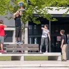 Hannes, Pixel, Zoe und Nico / HockHart / SALZIG Sporthocker / Photo: Michael Landschütz