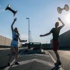 Michelle & Tatjana synchron / BER / HockHart / SALZIG Sporthocker / Foto: Stephan Landschütz