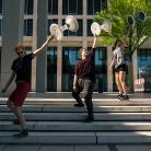 Tatjana, Pia & Franzi synchron @ BER / HockHart / SALZIG Sporthocker / Foto: Michael Landschütz