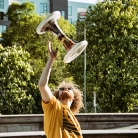 Mr. Hat / HockHart / Neue Nationalgalerie / SALZIG Sporthocker / Foto: Marcus Breitfeld