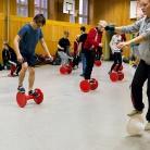 Balance / Die Rote Hosen / SALZIG Sporthocker / Foto: Wilke