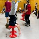 Schulterstand / Die Rote Hosen / SALZIG Sporthocker / Foto: Wilke