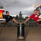 Philippo and Josh hanging around / HockEurope / SALZIG Sporthocker / Foto: S. Wilke