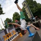 Hockeraxel / Freier Schulterstand / Munich Mash / SALZIG Sporthocker / Foto: Hanna Wilke