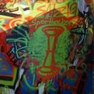 Graffiti @ Pangea Festival / SALZIG Sporthocker / Photo: Marc Pätznik