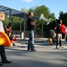 Sporthocker Workshop in der Sonne / Foto: S. Wilke