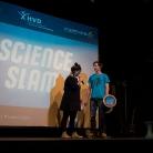 SL on stage / Science Slam Berlin / Foto: Michael Landschütz