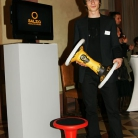 Dipl. Ind. Des. (FH) Stephan Landschütz mit seinem Sporthocker / Foto: bsp-design.de