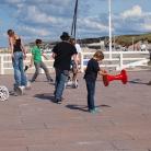 Hockern am Strand / Foto: Helge Schleper