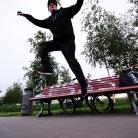 Jan / Trick: Jump off the Bench Wirbel / Foto: Stephan Landschütz