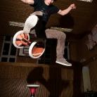 Sevi / Trick: Antiwirbelhocke / Sporthocker Training / Foto: Stephan Landschütz