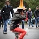 Sporthocker als Regenschirm / X Games Munich 2013 / Foto: Hannes Roth