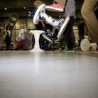 Merle und ihr Sporthocker auf der YOU 2011 / Foto: Susanne Wilke